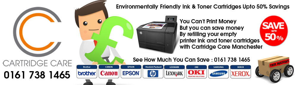 Cartridge Care Toner Cartridges In Manchester 0161 738 1465
